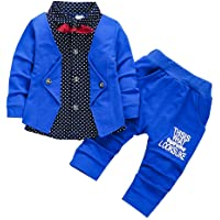 HZXVic 2pcs Baby Boy Dress Clothes Toddler Outfits Infant Tuxedo Formal Suits Set Shirt + Pants