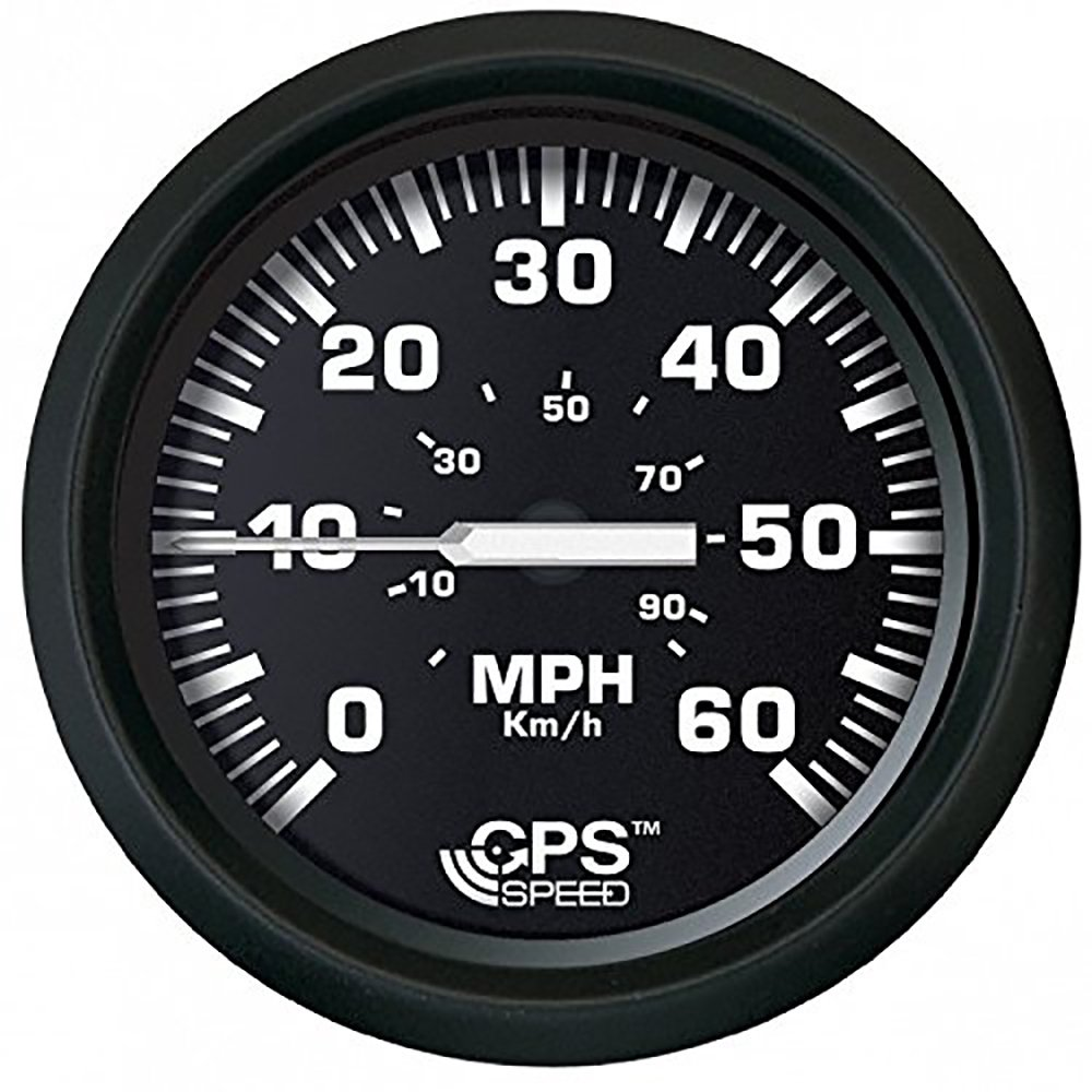 Faria 32816 Euro Speedometer Gauge 60 MPH GPS Studded-4'' by Faria