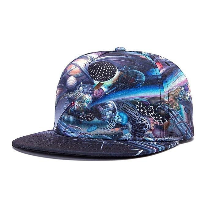 Unisex Colorido Planeta Impreso para Hombre para Mujer Moda Fashion Gorros Vintage Hip Hop Gorra De Béisbol Cap Hat Cap (Color : W023, Size : One Size): ...