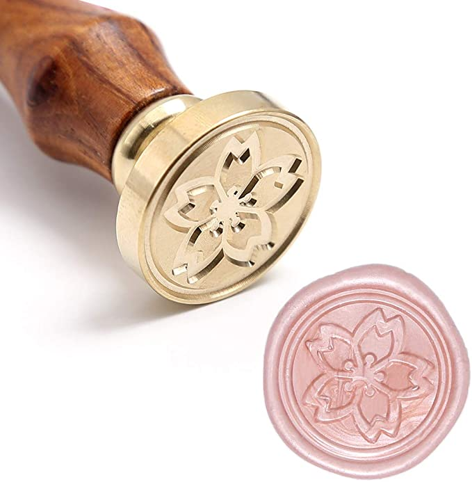 Sakura Wax Sealing Stamp  Wax Sealing Stamp  Wedding Wax Stamp  Invitation Sealing Wax Stamp  Initials Wax Seal Kit