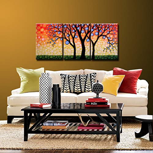Original Art Painting Triptych Decor Landscape Huge Large