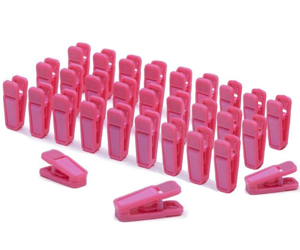 VANVENE Plastic Baby Hanger Clips, 30 Pcs Slim-line Finger Clips Set for Clothes Hanger or Velvet Hanger(Pink) Sunshine Home