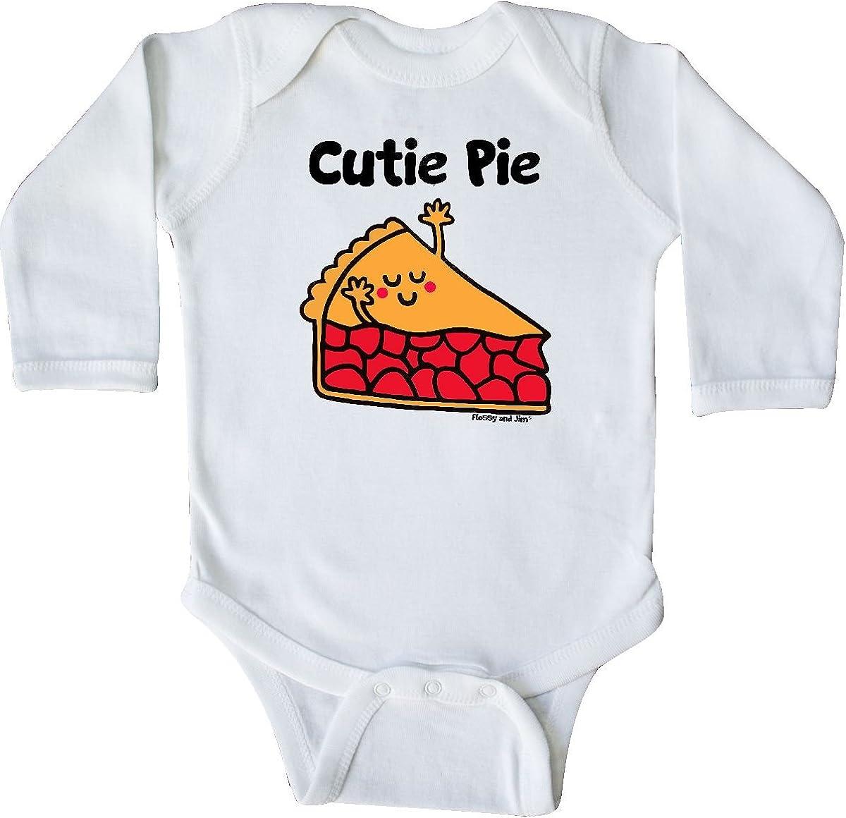 Flossy and Jim inktastic Gigis Little Cutie Pie Long Sleeve Creeper