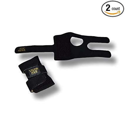 12ac7f00b83f Image Unavailable. Image not available for. Color: Tiger Paws Gymnastics  Black Wrist Wraps | Adjustable Wrist Support | Wrist Injury Prevention ...