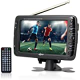 Axess 7-Inch, LCD TV with ATSC Tuner, Rechargeable Battery and USB/SD Inputs, TV1703-7