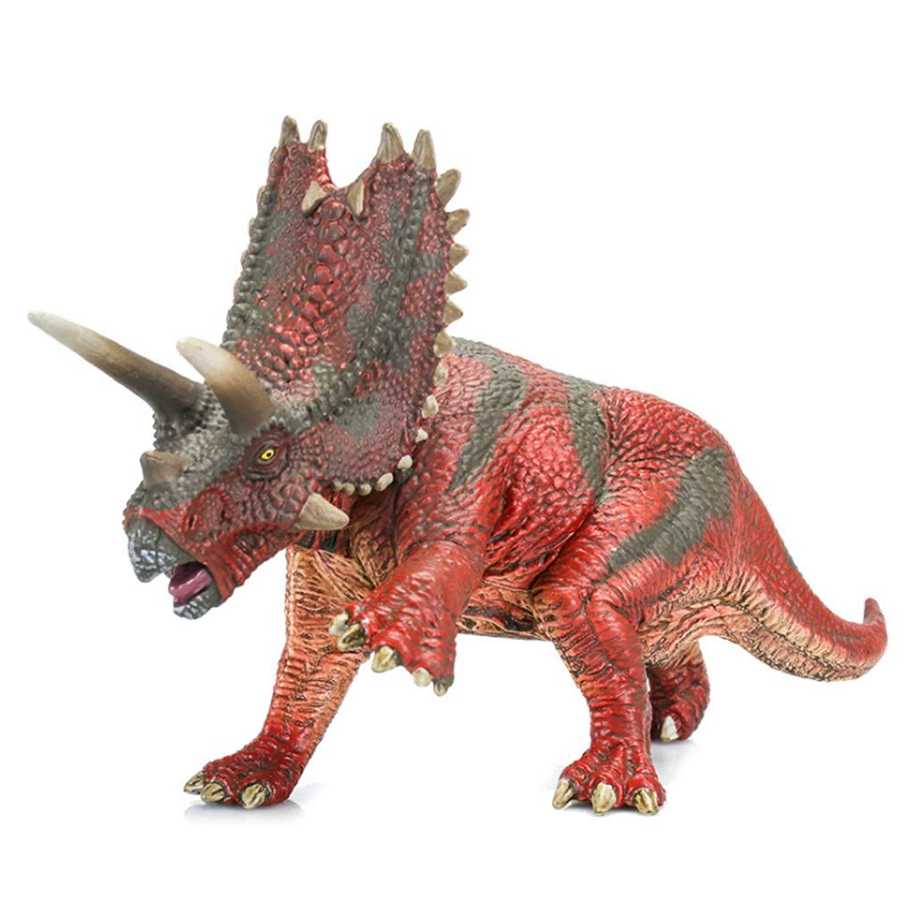 Kaiyu Juguete de Dinosaurio Simulación Modelo de Dinosaurio Niño Simulación Animal Triceratops Juguete de Animal Salvaje