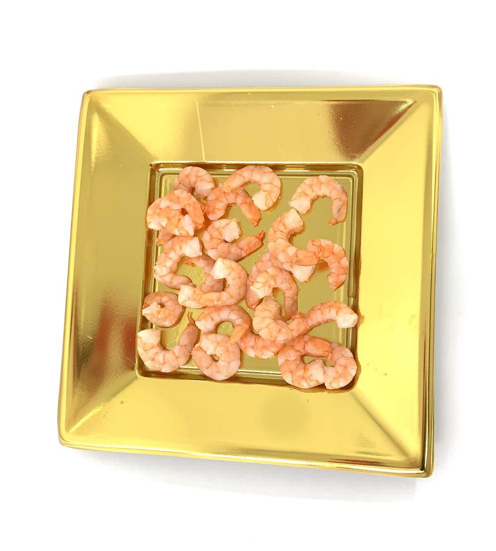 Dorado Juego de 8 Platos de pl/ástico reciclable de 23 cm o hondos de 18 cm Extiff Creuse 18 cm