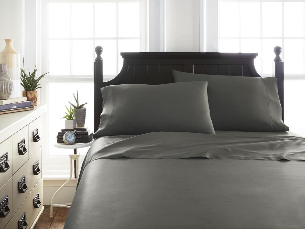 Soft EssentialsPremium Bamboo 4 Piece Luxury Bed Sheet Set(Queen - Gray) (Units per case: 12)