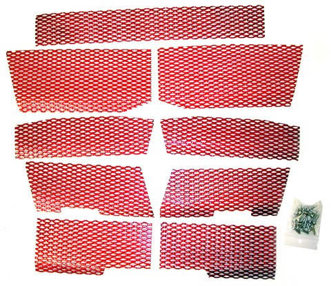 SCREEN KIT POLARIS CANDY RED, Manufacturer: DUDECK, Manufacturer Part Number: P-3 CANDY RED-AD, Stock Photo - Actual par by