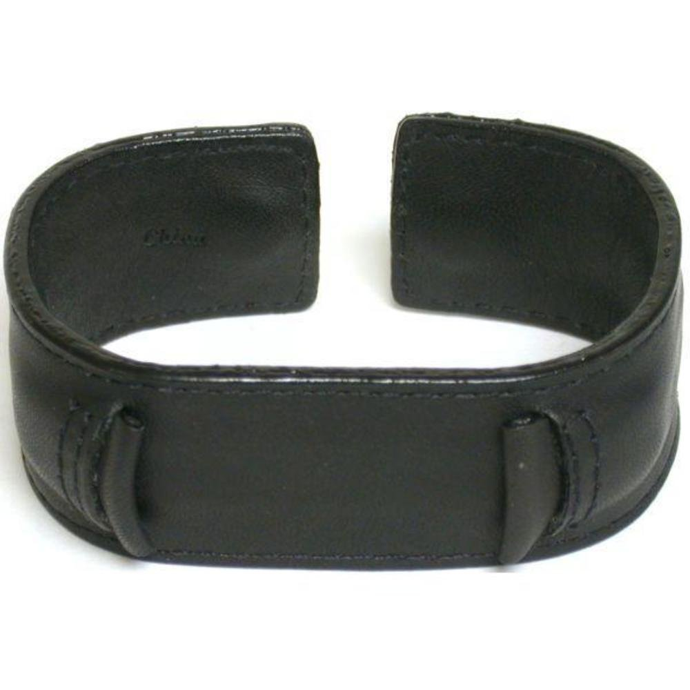 Watch band, Leather Wide Wrist Watch Band Rock & Roll, Fits all Brand watches from 18mm to 22mm (Black)