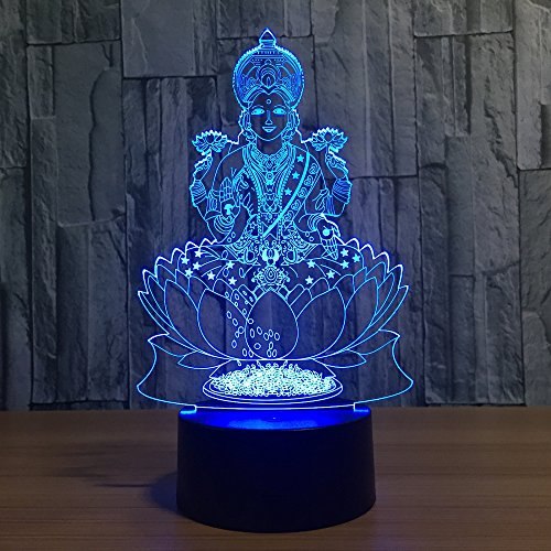 7 Color Changing Night Lamp 3D Atmosphere Bulbing Light 3D Visual Illusion LED Lamp for Kids Toy Christmas Birthday Gifts ()
