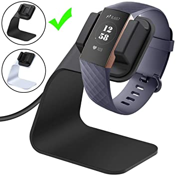 CAVN Cargador Fitbit Charge 3, Cable de Carga USB de Repuesto Adaptador de Cable de Carga portátil Dock de Carga Premium Soporte de Carga para Fitbit ...