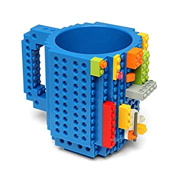 Buy BonZeaL Build On Brick Blocks Puzzle Birthday Gift For Him Her Mugs Kids Plastic Coffee Mug Tea Cup Blue 420ML Online At Low Prices In