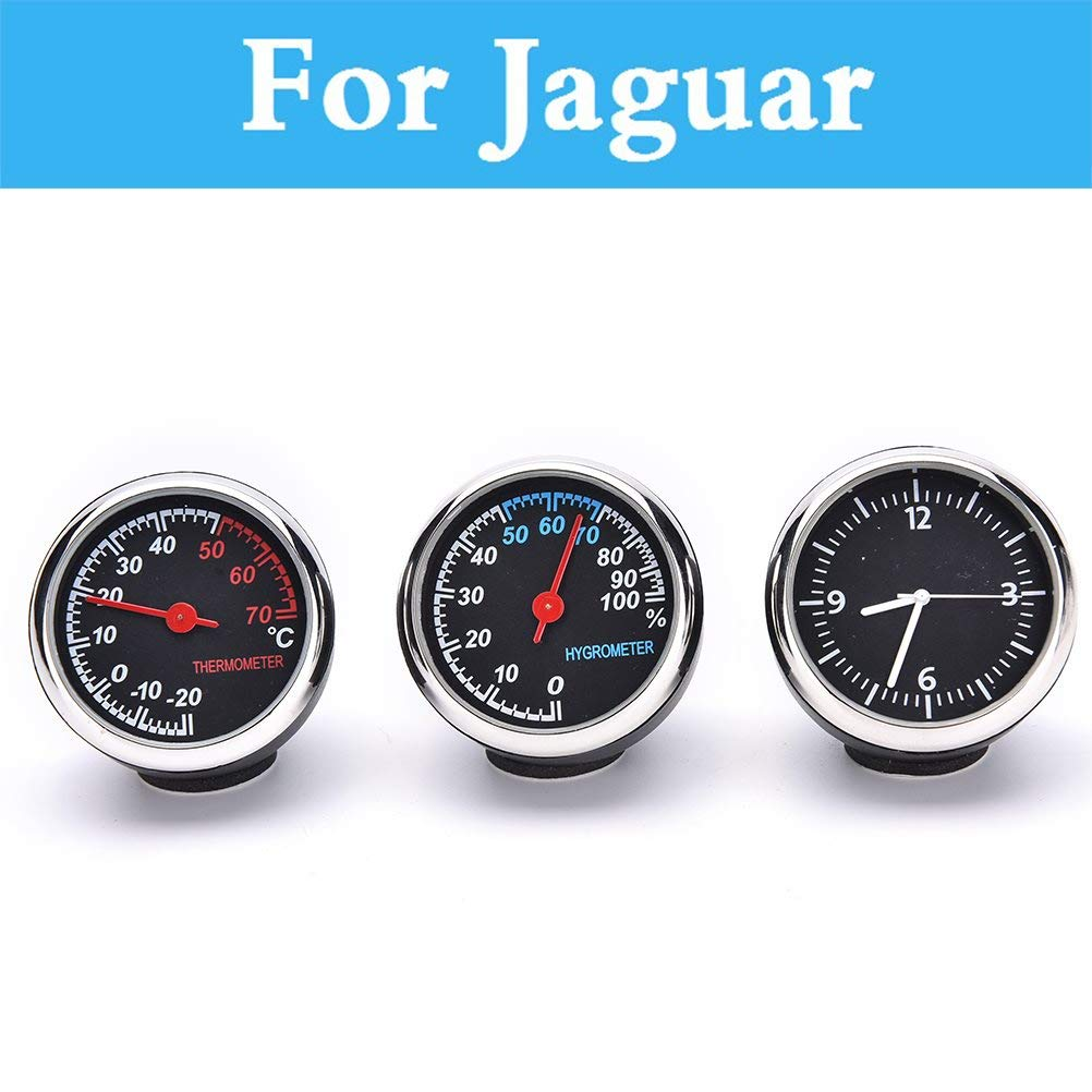 Fastener & Clip Car Digital Thermometer Hygrometer Mechanical Round Quartz Clock for Jaguar Xe Xf Xfr Xj XJR Xk Xkr X-Type F-Pace F-Type S-Type - (Color Name: Hygrometer)