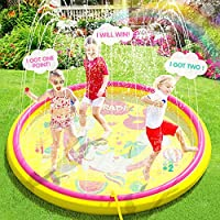 Inflatable Splash Pad Sprinkler for Kids Toddlers, Kiddie Baby Padding Pool, Outdoor Games Water Mat Toys - Baby Infant...