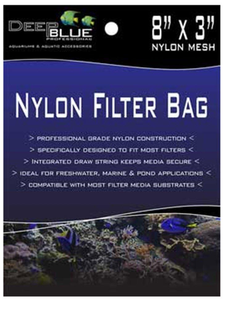 Nylon Filter Media Bag W Drawstring 8 x3