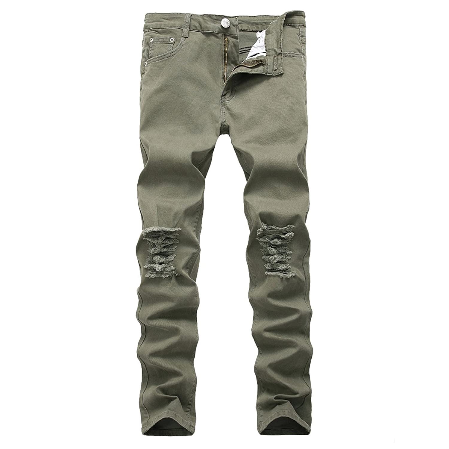 b377a6664ee Online Cheap wholesale PrettyChic Mens Ripped Jeans Vintage Fitted Stretchy  Tapered Leg Destroyed Jeans Jeans Suppliers