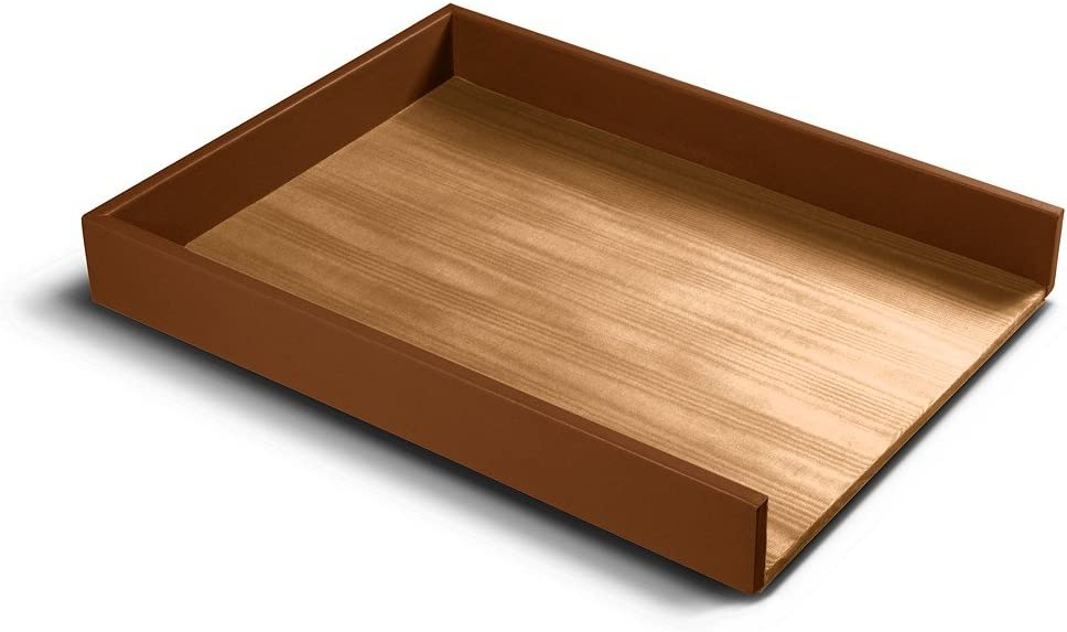 Lucrin Red A4 Letter Tray Smooth Leather