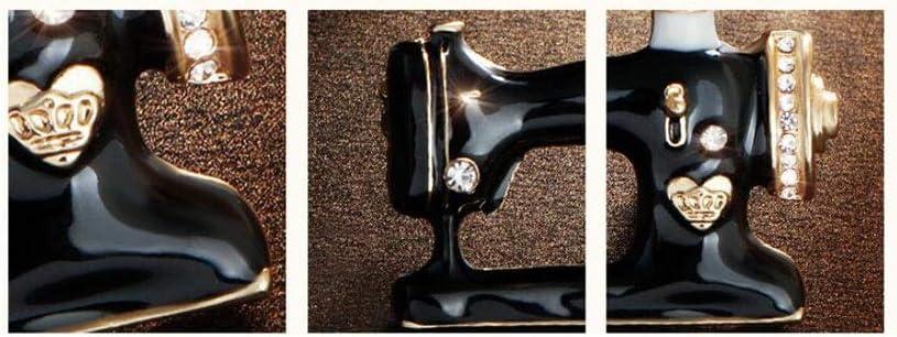 QXX Broche de máquina de Coser de época, un Material Multiusos, de aleación, Broche de Bufanda de Pin de Broche de Traje de Vestir 3.2 × 2.5 cm: Amazon.es: Hogar