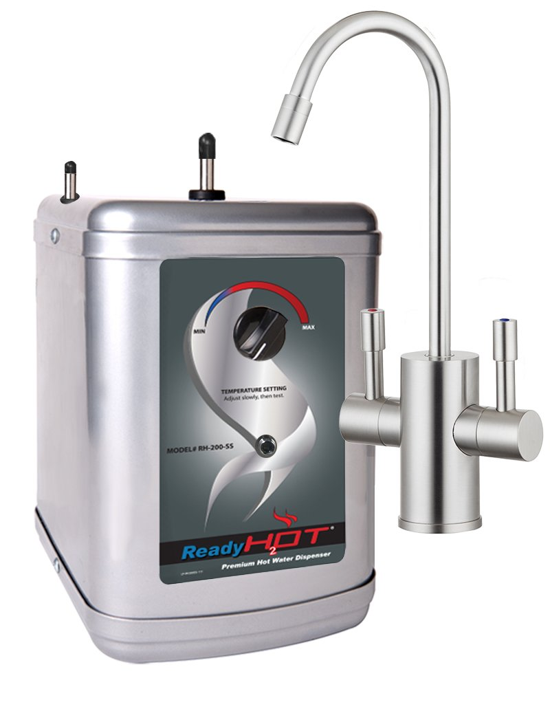 Ready Hot RH-200-F560-BN Stainless Steel Hot Water Dispenser System, Includes Brushed Nickel Dual Lever Faucet
