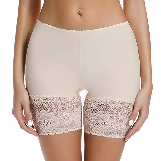 4d75d096759a Seamless Slip Shorts for Women Shaping Underwear Lace Boyshort ...