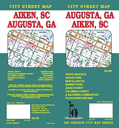 Augusta, GA & Aiken, SC Street Map