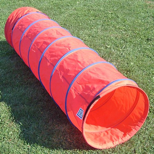 Affordable Agility 6 ft Practice Fabric Tunnel w/19 Diameter and Carry Bag for Small Dogs by Affordable Agility