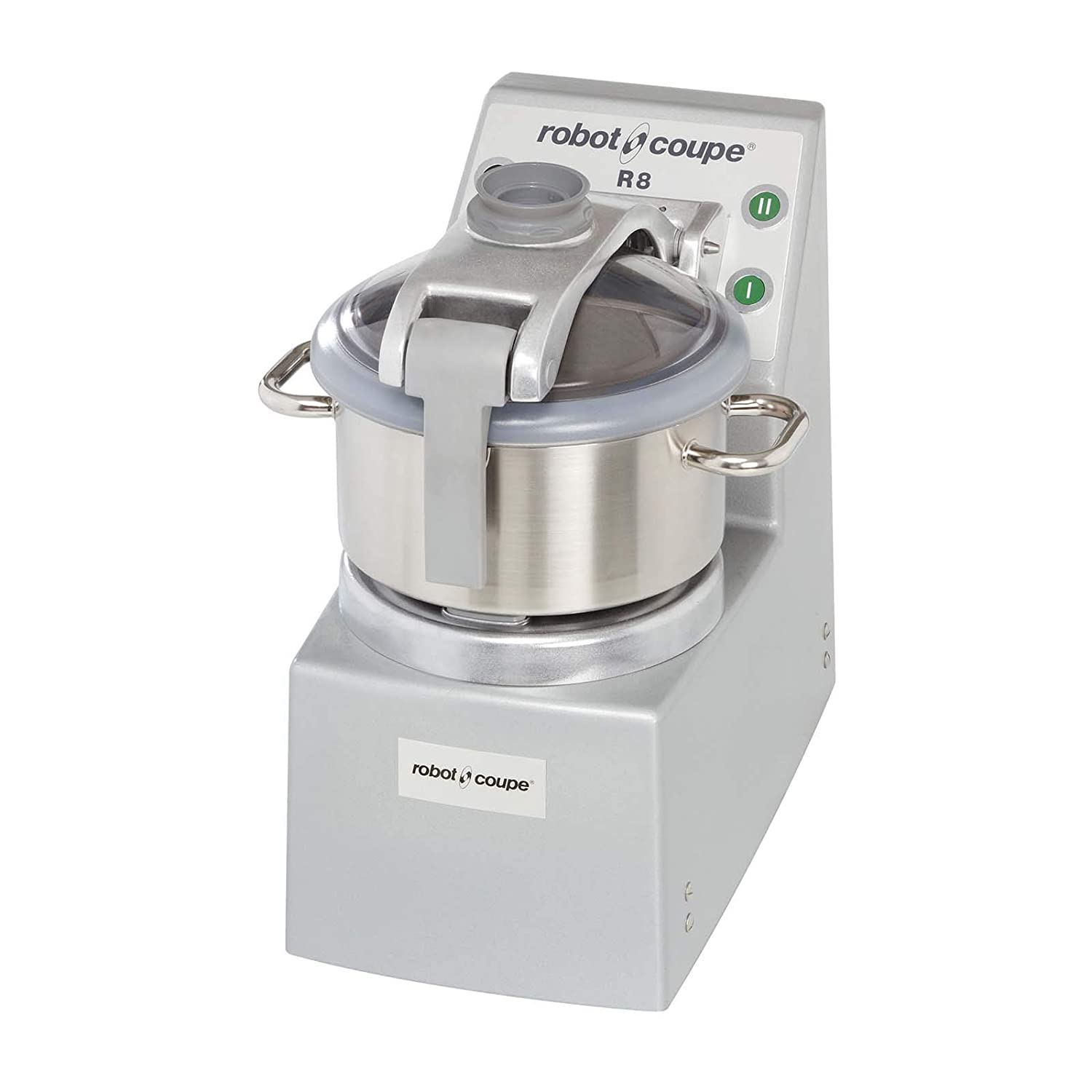 Robot Coupe R8 2-Speed Vertical Cutter Mixer Food Processor with 8-Quart Stainless Steel Bowl, 208-240v/3ph, 8 qt