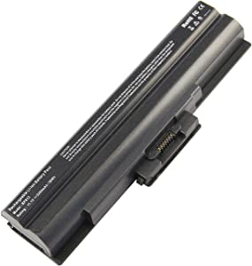 ARyee Laptop Battery Compatible with Sony Vaio VGP-BPS13/B VGP-BPS13/Q VGP-BPS13A VGP-BPS13A/B VGP-BPS13A/Q VGP-BPS13A/R VGP-BPS13AB VGP-BPS13B VGP-BPS13B/B VGP-BPS13B/Q(5200mAh 11.1V)