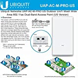 Ubiquiti Networks UAP-AC-M-PRO-US UniFi AC Mesh Wide-Area Outdoor Dual-Band Access Point (US Version)