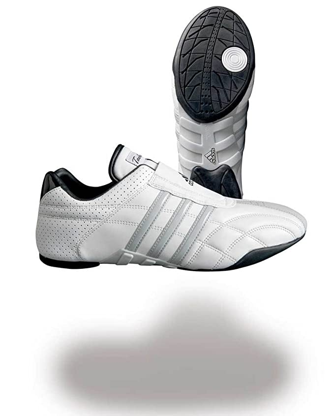 adidas Chaussures taekwondo Adiluxe cuir bandes grises