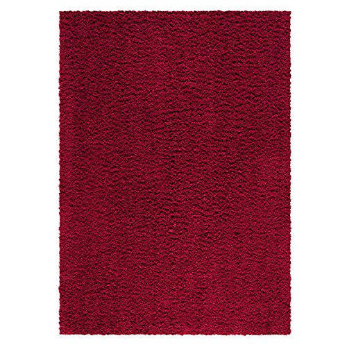 Kitchen Rugs, Maples Rugs [Made in USA][Catriona] 2'6 x 3'10 Non Slip Padded Small Area Rugs for Living Room, Bedroom, and Entryway - Autumn Red (Solid Rugs Kitchen Red)