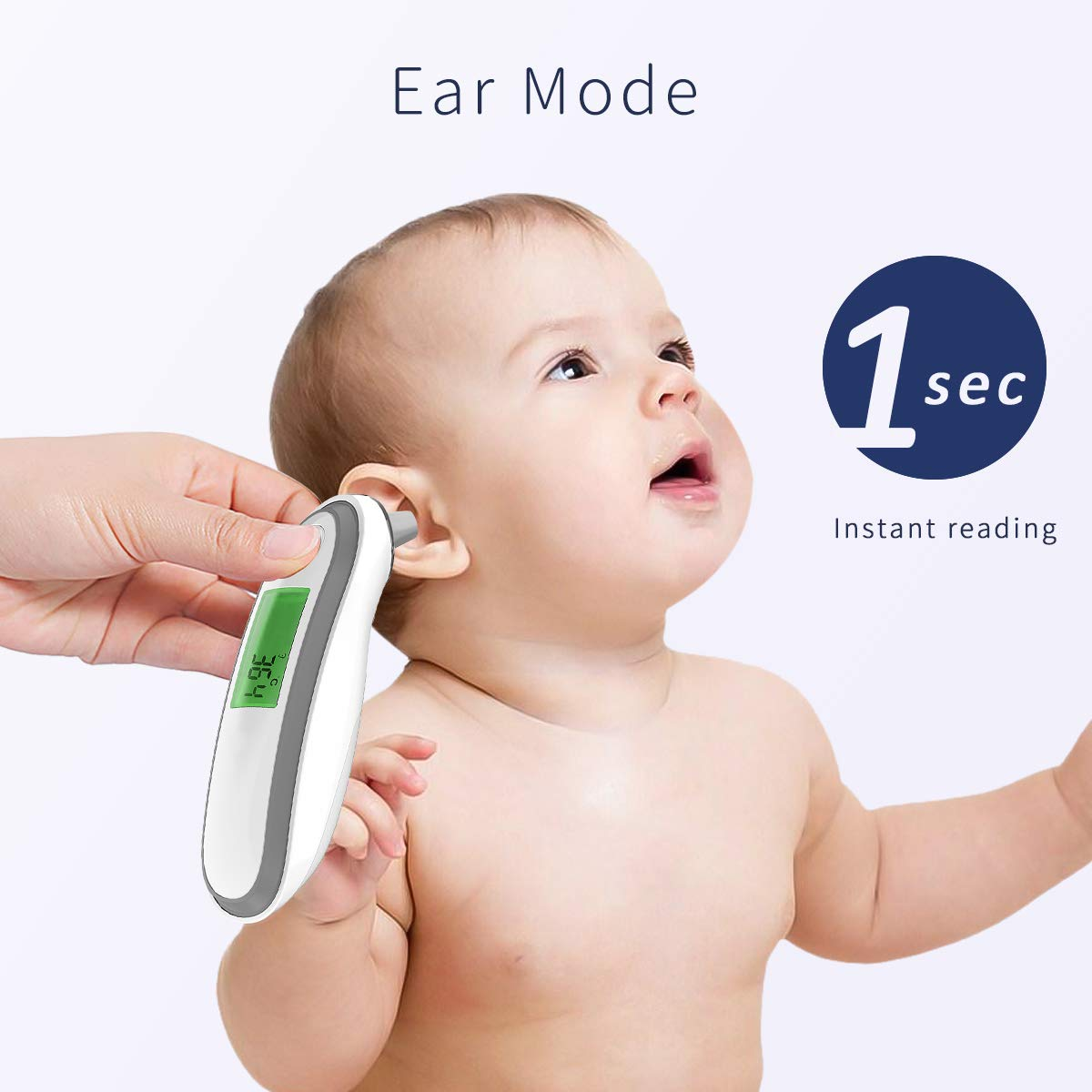 Purple SONARIN Ear and Forehead Thermometer Digital Medical for Baby and Adults,Fever Warning,Clinical Monitoring,Instant Reading,CE and FDA Certified