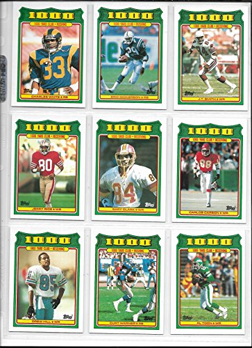 1988 Topps Football Complete 1000 Yard Club Insert Set Of 28 Cards (1000 Yard Club Football Card)