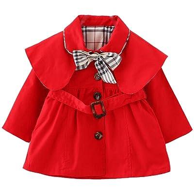 ARAUS-Manteau Fille Veste Blouson Manche Longue Manteau Automne D'hiver pour Enfant Coupe-vent Veste Blazar FilleCape