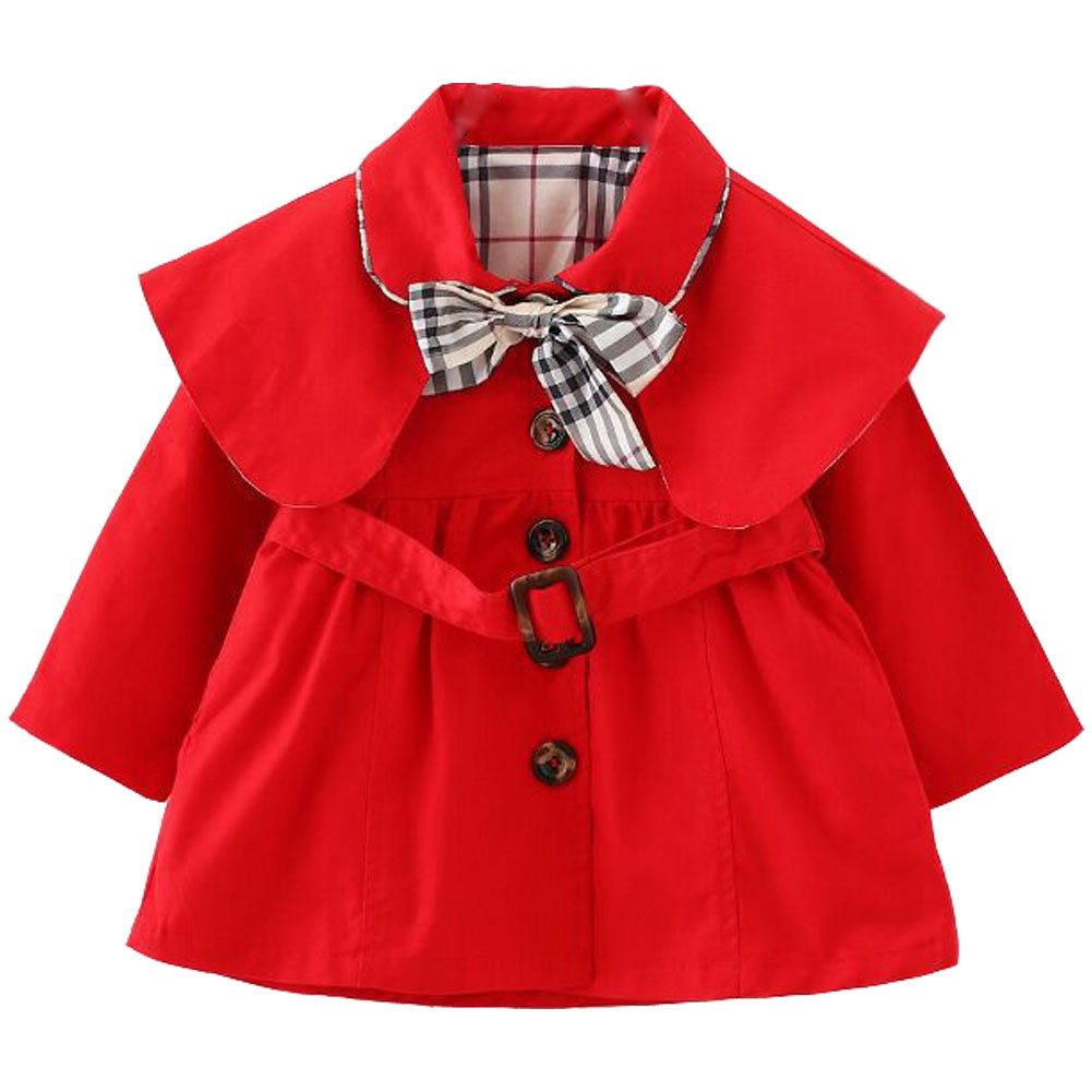 ARAUS Kids Baby Girl Elegant Trench Dress Coat Wind Proof Jacket for Spring Autumn