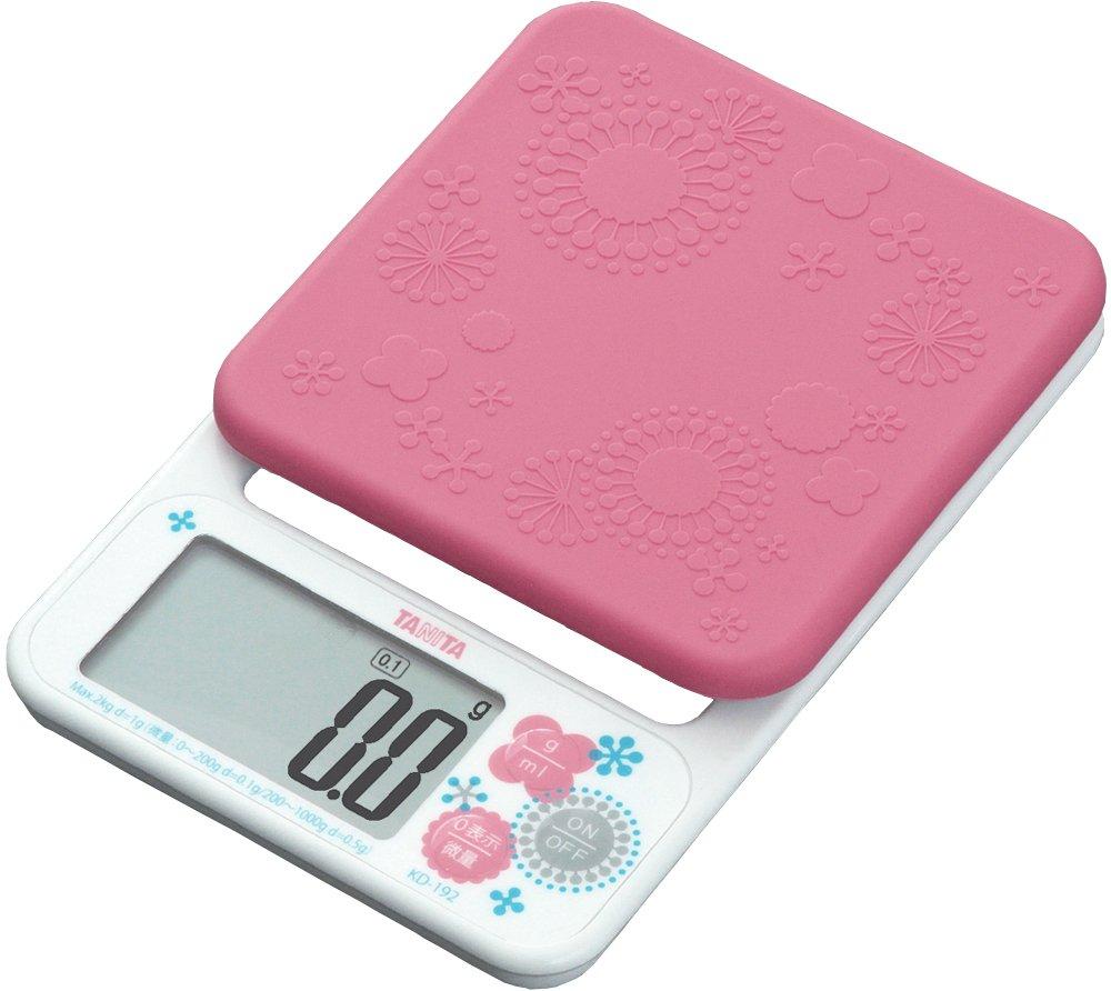 タニタ デジタルクッキングスケール 2kg(0.1g単位/200gまで) ピンク KD-192-PK