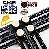 OMA ANY- ANGLE Multi-Angle Measuring Ruler: FULL-METAL Angle-izer Template Tool (Black) – Perfect For Handymen, Builders, Craftsmen, Carpenters, Roofers, Tilers, DIY-ers & GREAT GIFT - 1 YEAR WARRANTY