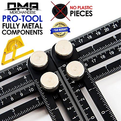 Universal Multi-Angle Measuring Ruler - ANY-ANGLE Template Tool Set - Upgraded Professional Aluminum Alloy Multi-Angle...