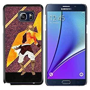 Resumen Guerrero Arte- Metal de aluminio y de plástico duro Caja del teléfono - Negro - Samsung Galaxy Note5 / N920