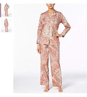 6c50bff7f79 LAUREN RALPH LAUREN Womens Gilded Age Printed Cotton Sateen Pajama Set, X- Small