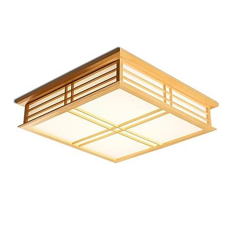 DRM Lustres y techo lámparas/lámparas de techo con madera ...