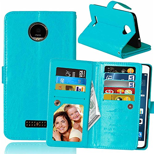 Moto Z / Moto Z Droid Case, VPR Premium PU Leather Wallet Cover with Card Slots & Stand For Moto Z / Moto Z Droid / XT1650 [Does Not work with Moto Z Force Edition, Moto Z Play Edition] (Blue)