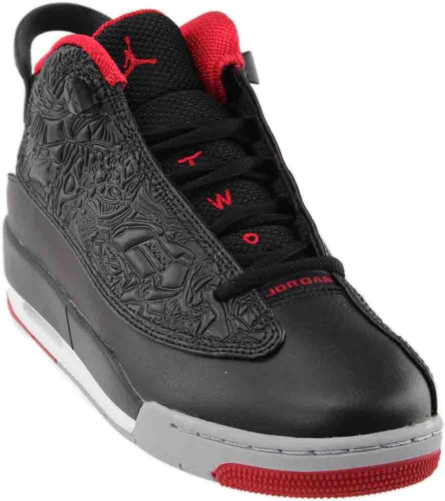 Nike Youth Air Jordan Dub Zero Boys Basketball Shoes Black/Gym Red/Wolf Grey 311047-013 Size 6.5 by Jordan