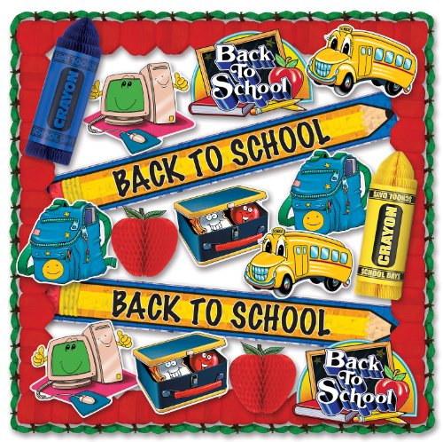 School Days Decorating Kit - 19 Pcs Party Accessory (1 (Back To School Themed Costumes)