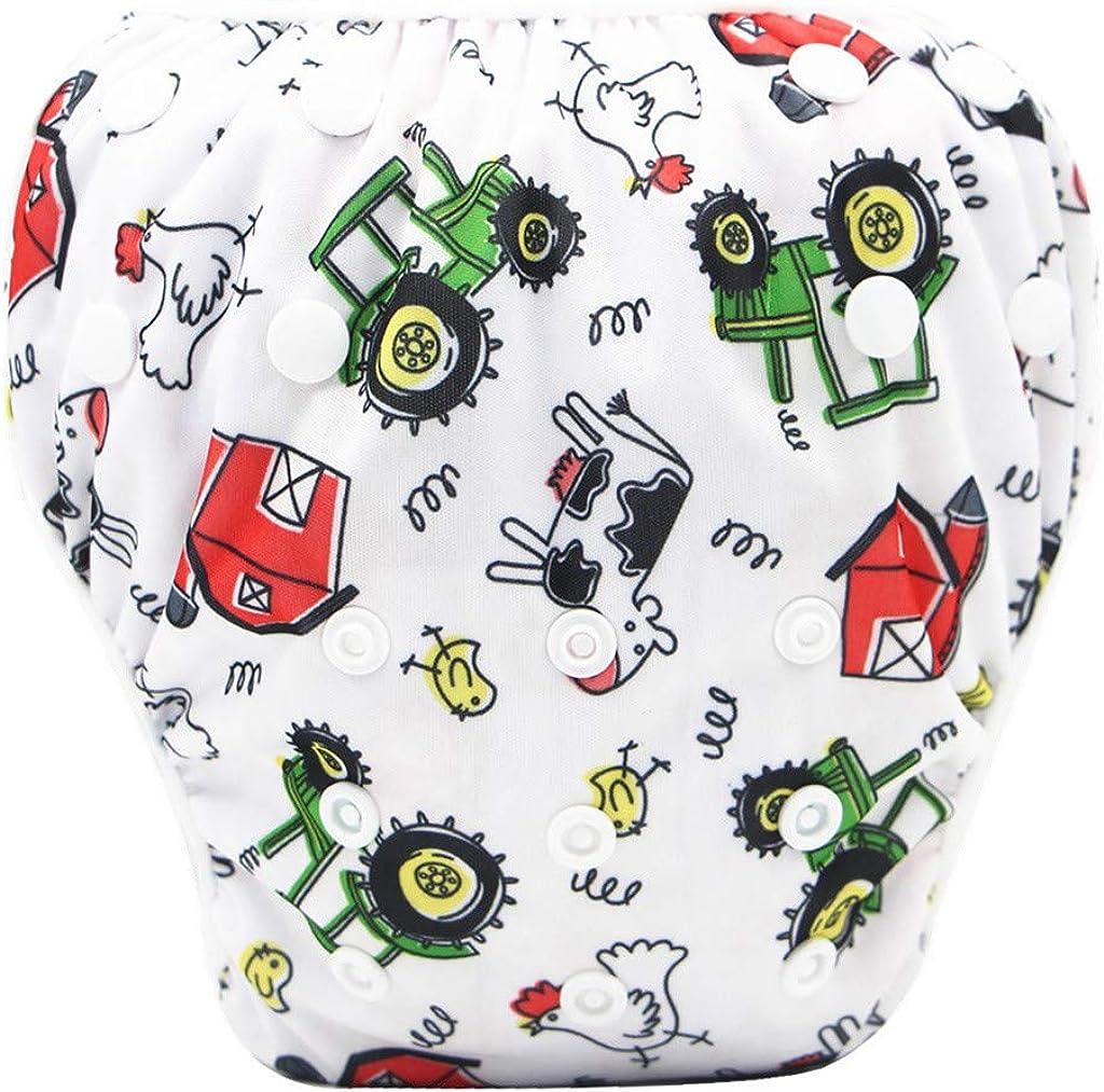 Joysale Reusable Swim Diaper for Toddler Babys U,Free Size Adjustable Washable Snap Nappy,One Size