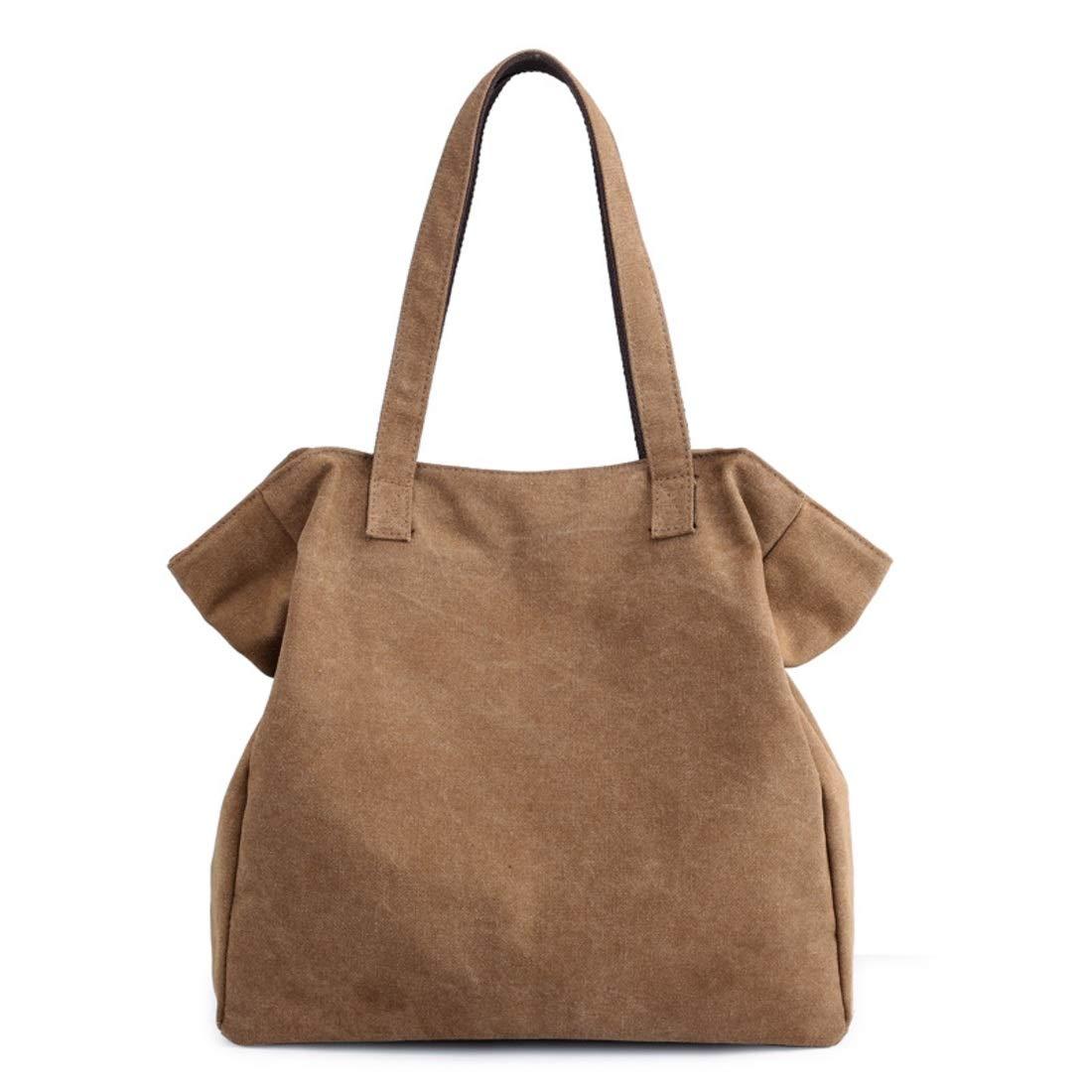ArotOVL Damen Schulter Cross Body Large Tote Bag Kapazität Handtaschen Canvas Taschen (Farbe   braun) B07PHG16FF Shopper Moderne und stilvolle Mode