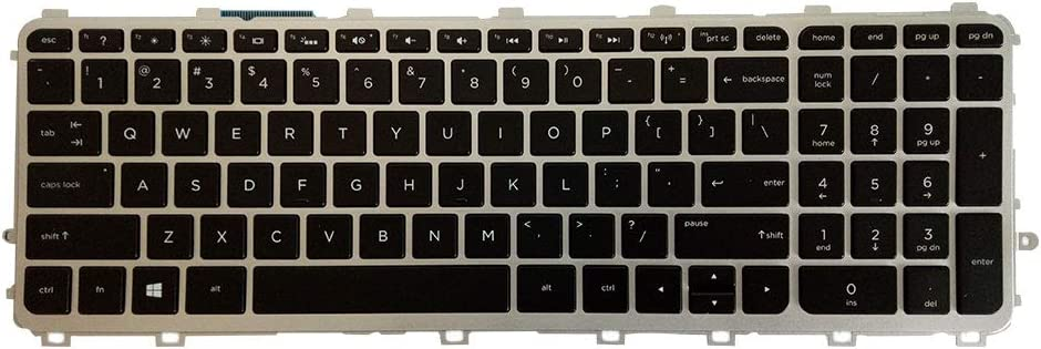 Laptop Replacement Keyboard Fit HP Envy 17-J010US 17-J020US 17-J030US 17-J040US 17-J050US 17-J060US 17-J120US 17-J130US 17-J140US US Layout with Backlight
