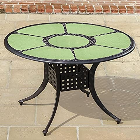 Trenton Gifts 7 Piece Round Table Place Mat Set-Mint Green (Nubby Place Mat)
