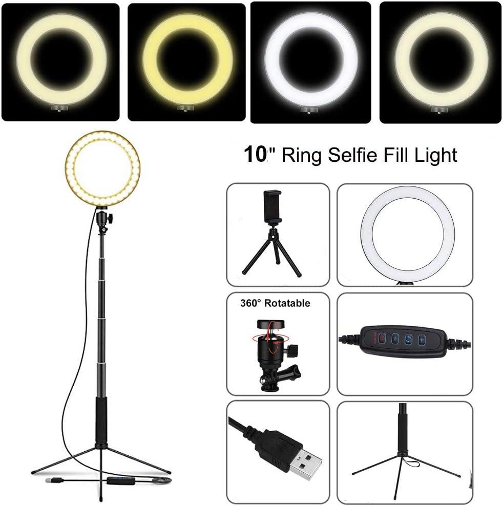 QYRL LED Floor Lamp USB Ring Floor Light Tripod Annular 80Leds Standing Floorlamp for Video YouTube Photo Ringlight Makeup Lampshade